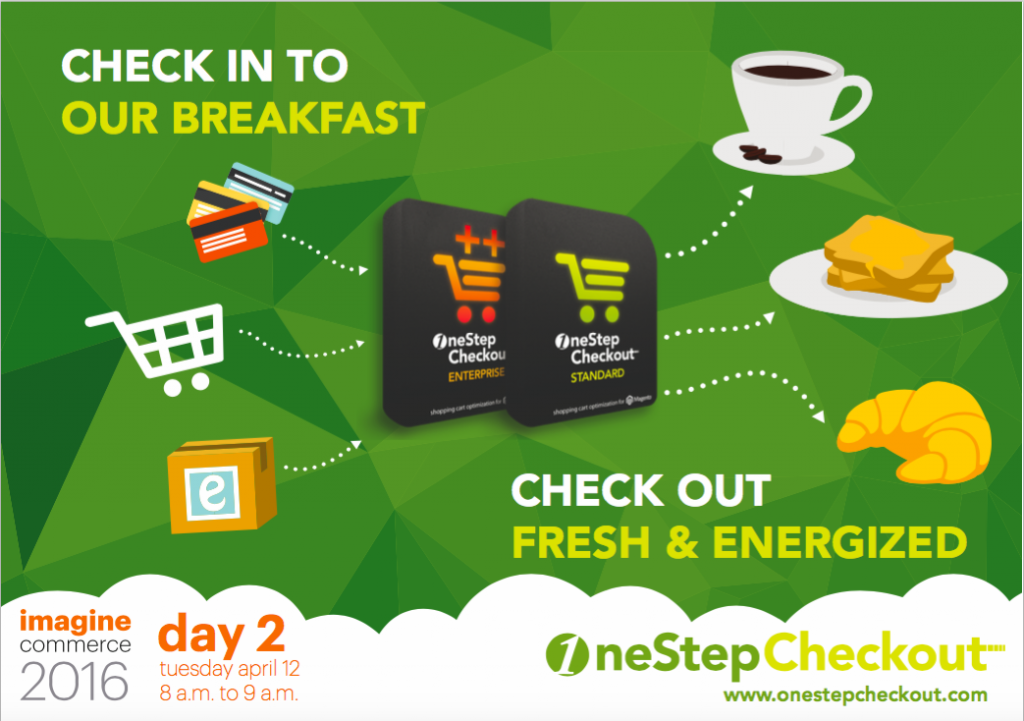 OneStepCheckout sponsor of Magento Imagine breakfast