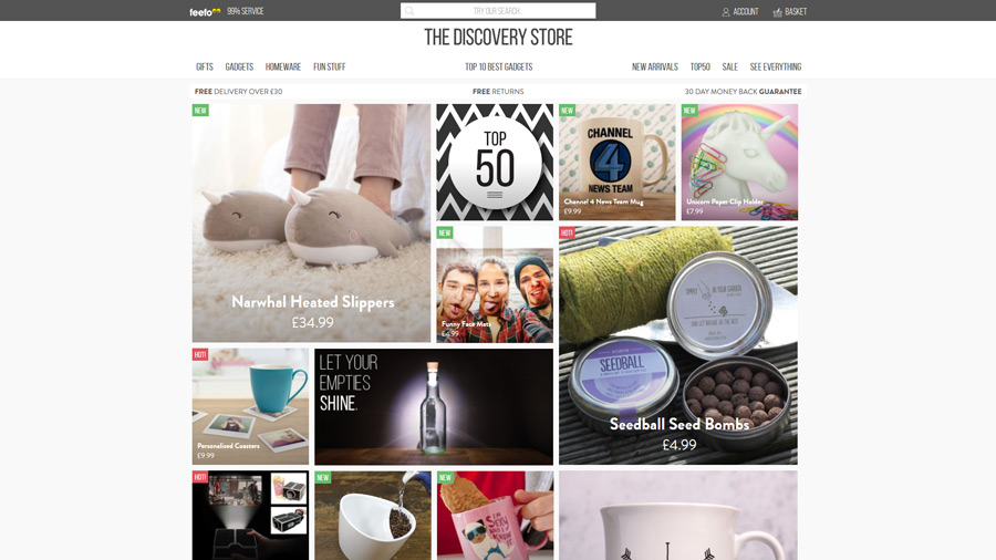 1. The Discovery Store and their agency Pinpoint Designs