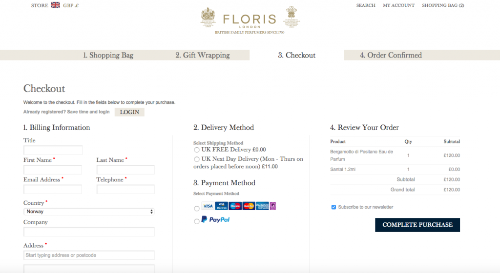 OneStepCheckout on Floris by Digital Boutique at eCommerce Expo