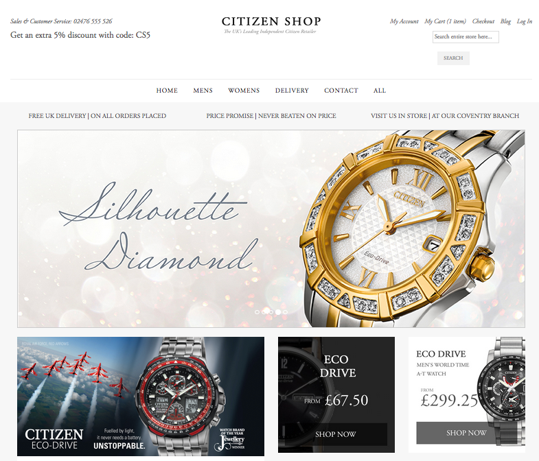 eCommerce jewerly and watches