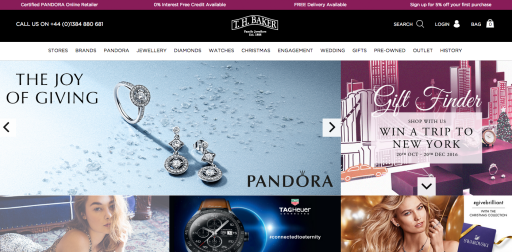 eCommerce jewelry and watches