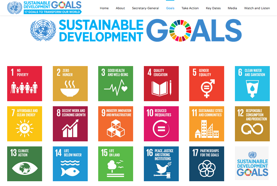 United Nations sustainability development goals 2016