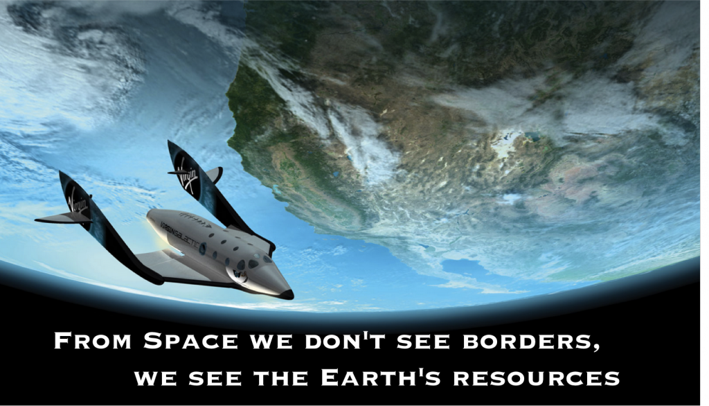 From Space we don't see borders, we see the Earth's resources