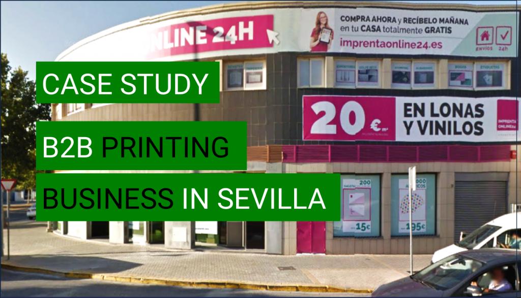 ecommerce case study B2B printing company