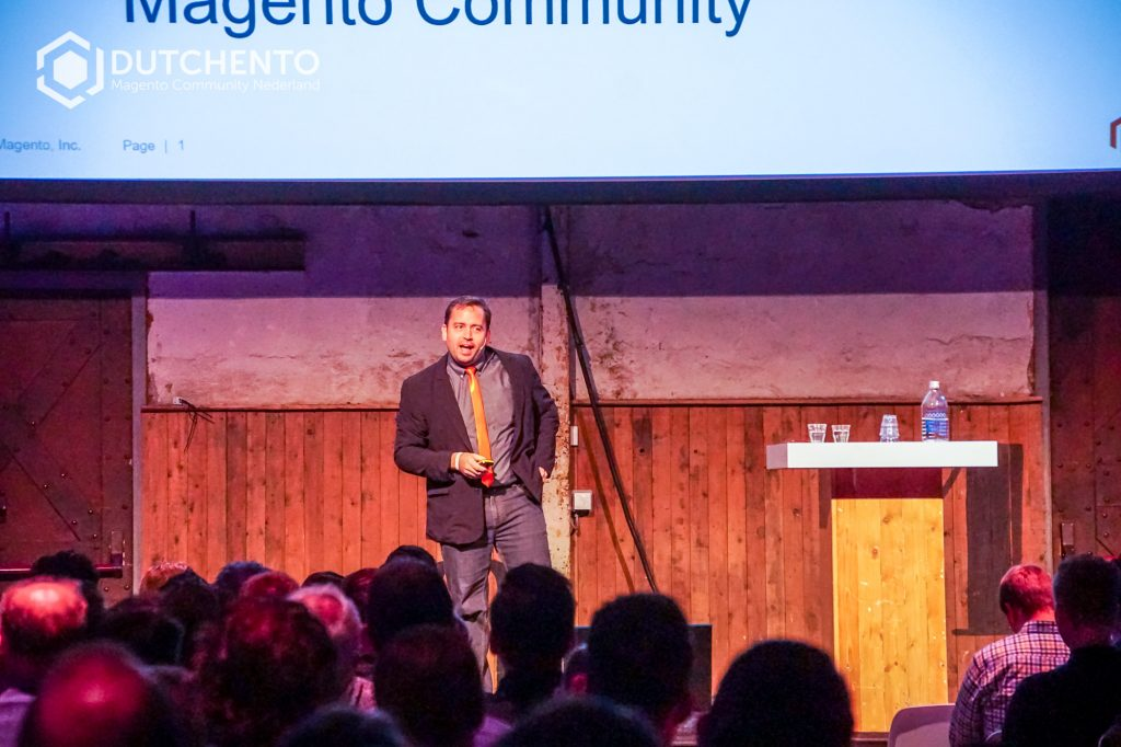 Ben Marks orange tie Meet Magento Netherlands