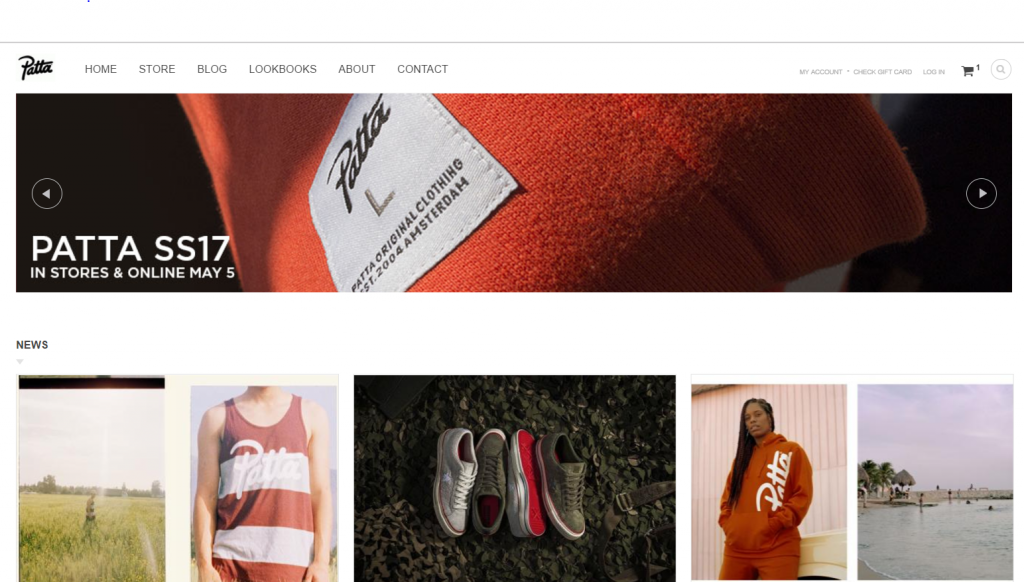 patta homepage ecommerce fashion store