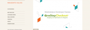 OneStepCheckout on Magento blog front page