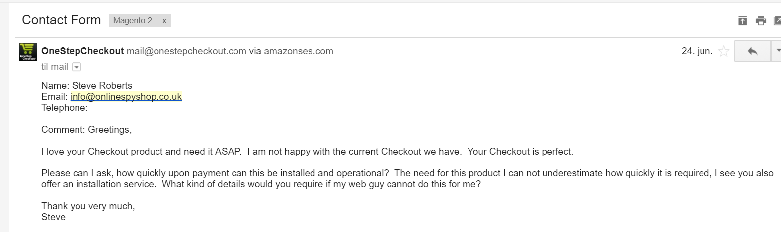 Magento 2 Case study One Step Checkout Reviews