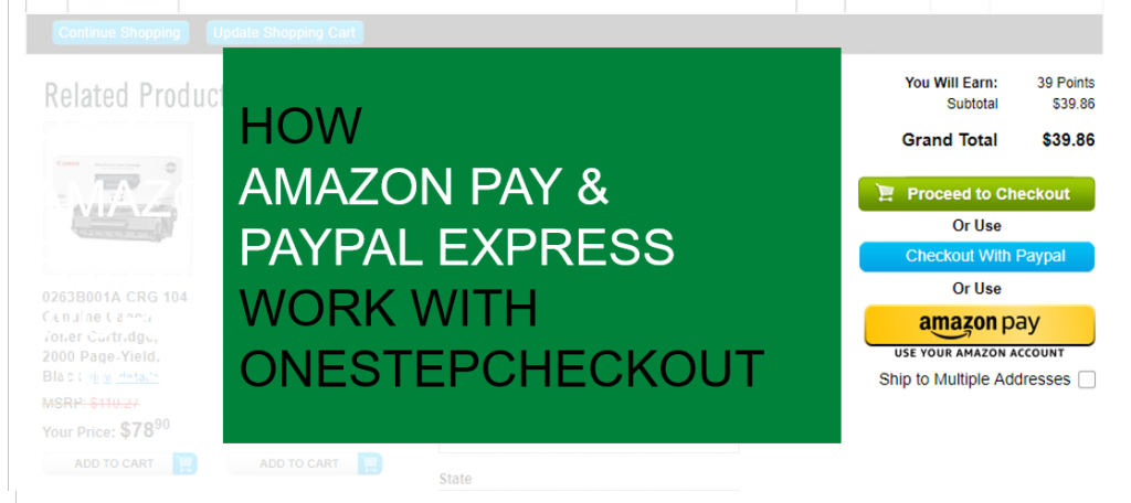 amazon pay PayPal express Magento