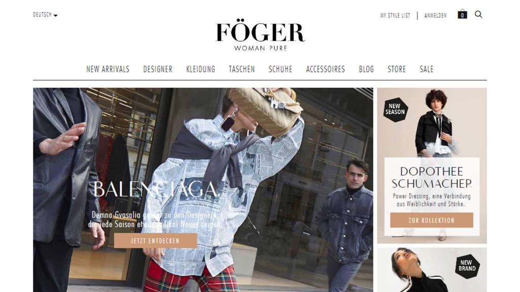 Foeger Magento 2 store Germany Austria