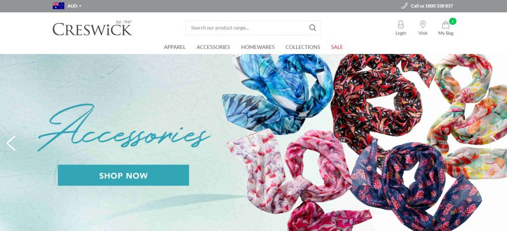 Magento 2 stores examples. Clothing, Home ware, Accessories