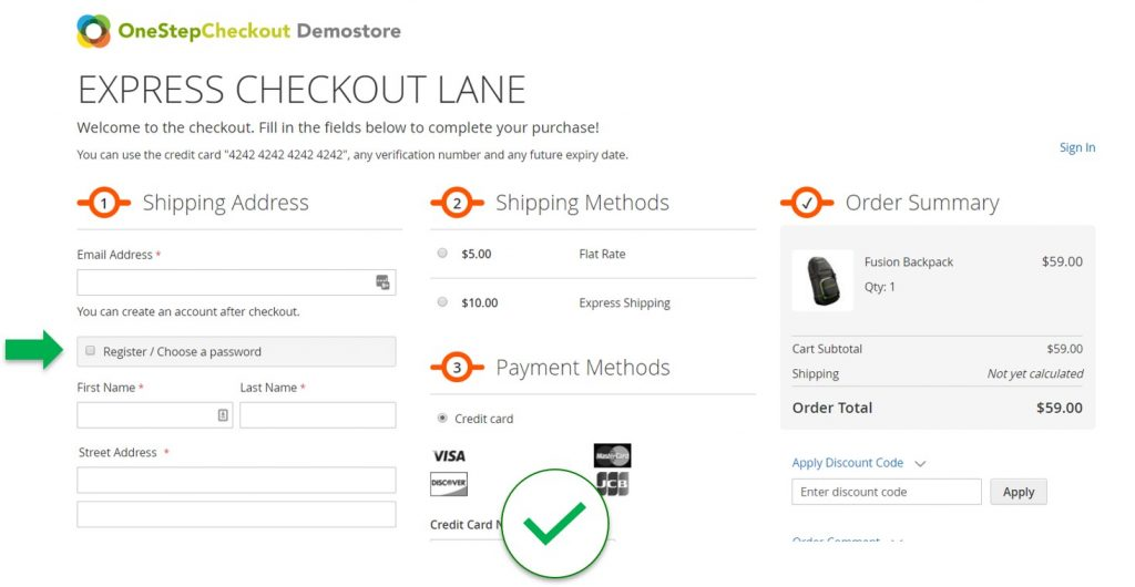 Don't force online shoppers to create an account