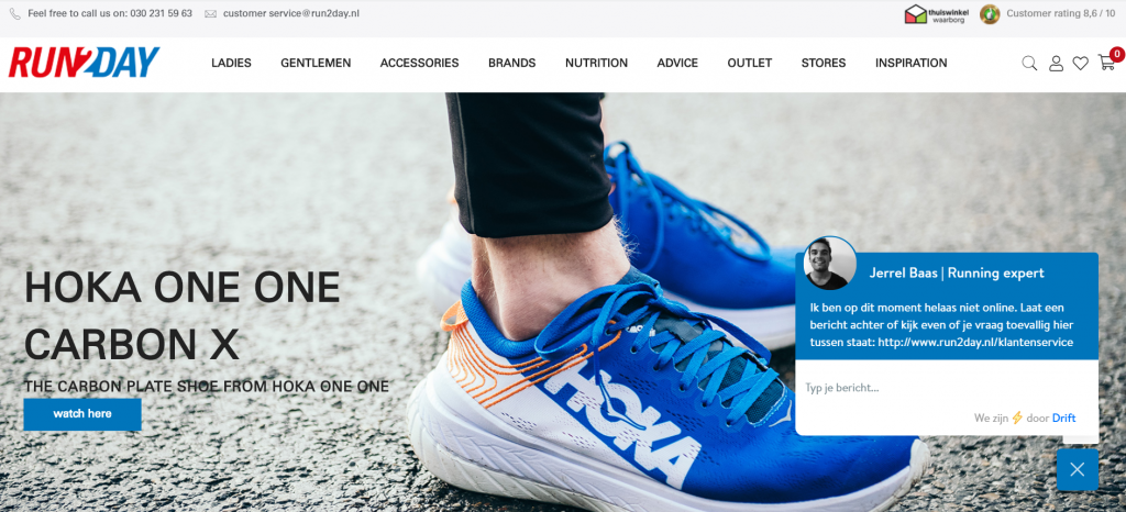 Run2day Dutch ecommerce store on Magento 2