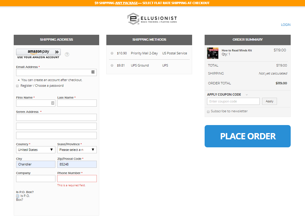 Ellusionist Checkout powered by OneStepCheckout for Magento 2