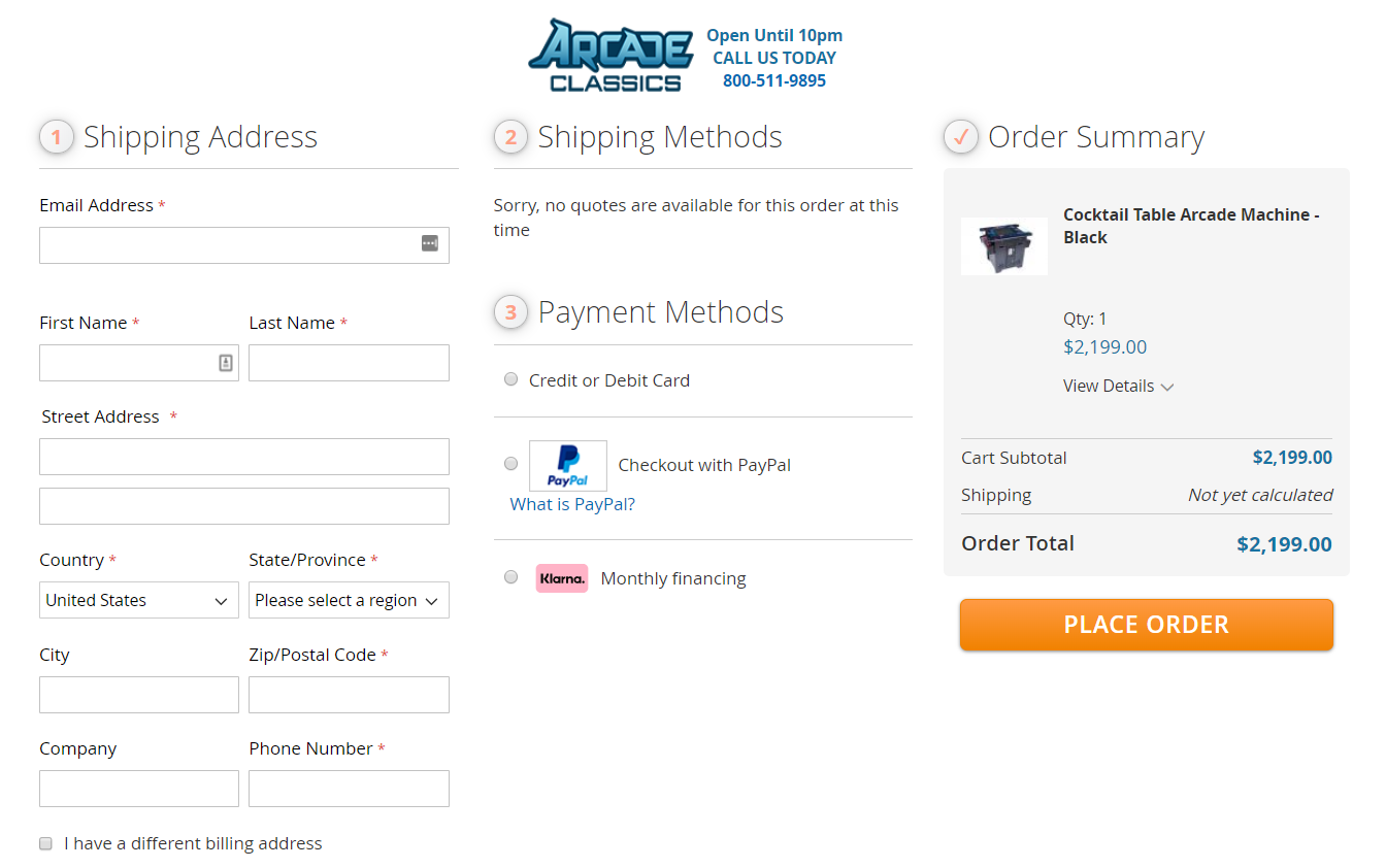 Arcane Classics Checkout with OneStepCheckout for Magento 2