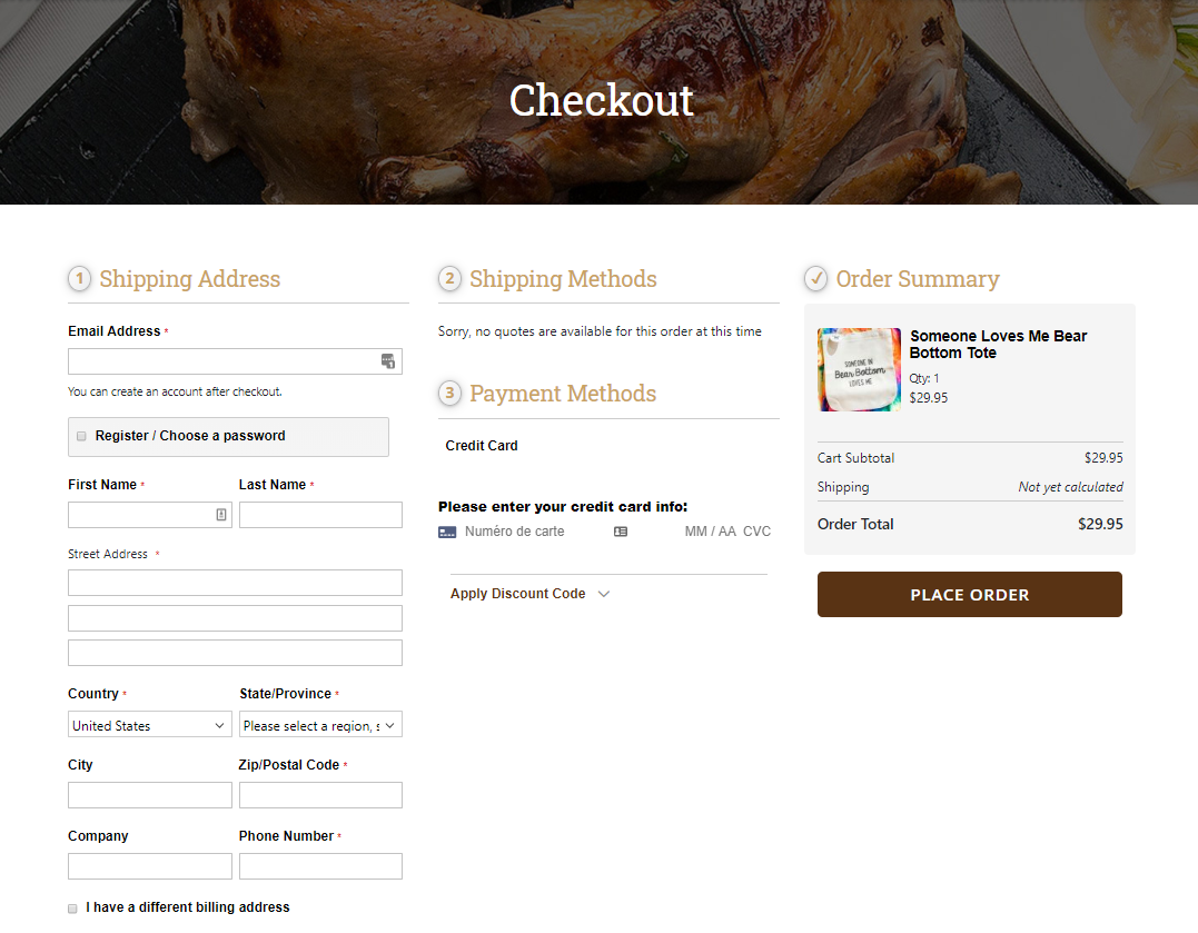 Bear Creek Smokehouse Checkout powered by OneStepCheckout for Magento 2