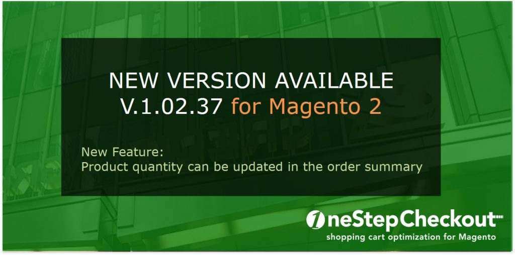 version 1-2-037 One Step Checkout for Magento 2