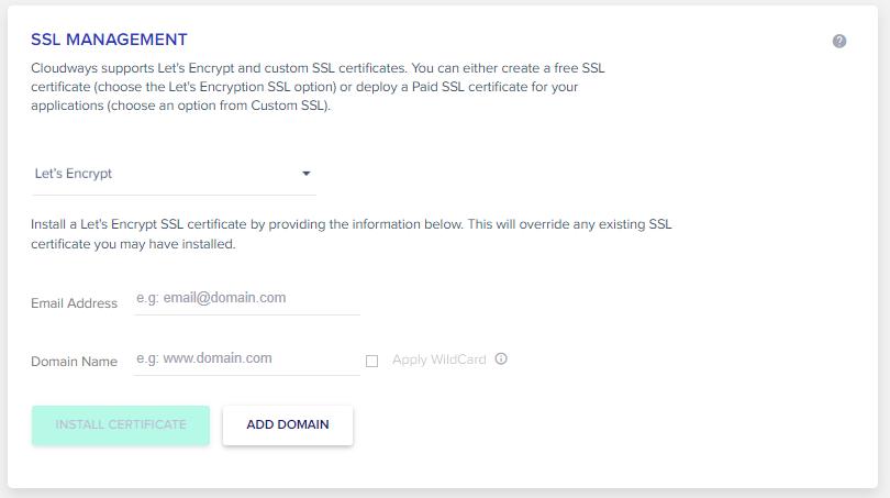 SSL Maagement Cloudways Magento 1 to Magento 2 migration