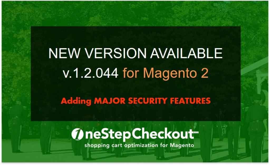 OneStepCheckout for Magento 2 new release v1-2-044