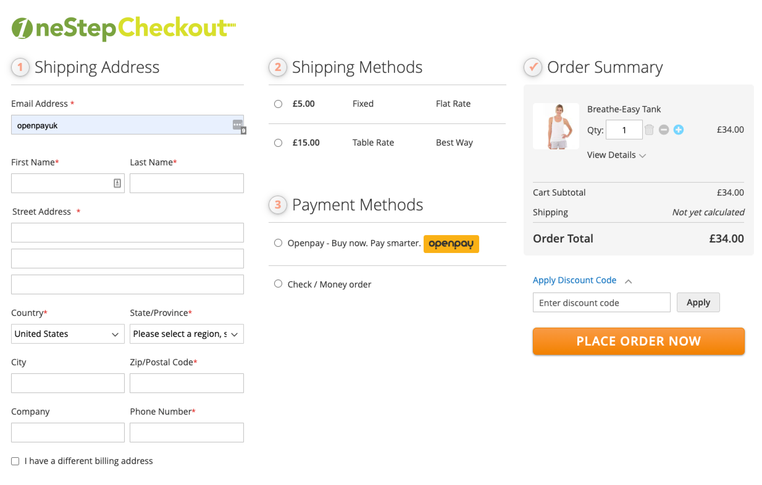 One Step Checkout integration with Buy Now Pay Later BNPL Openpay