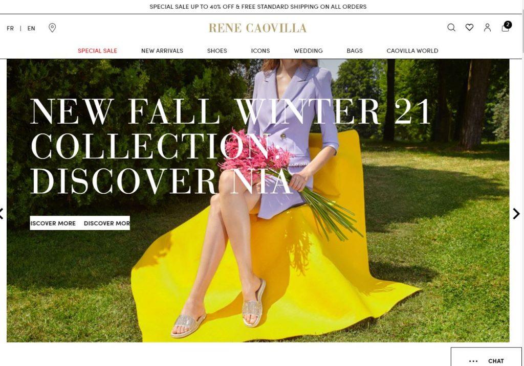 Rene Caovilla Italian Shoe designer Magento 2 homepage One Page Checkout