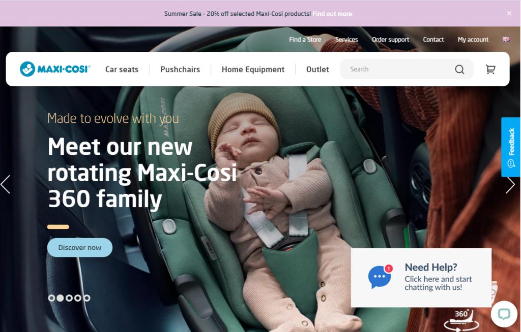 Maxi cosi Homepage Magento 2
