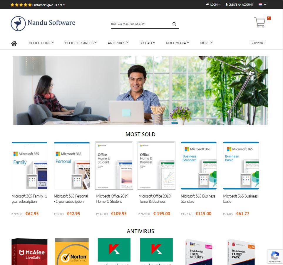 nandu software Homepage Magento 2