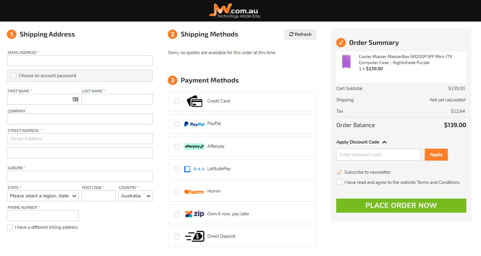 onestepcheckout magento 2 checkout buy now pay later Zip Afterpay PayPal